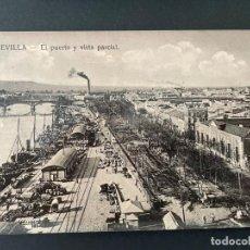 Postales: ANTIGUA TARJETA POSTAL DE SEVILLA (EL PUERTO Y VISTA PARCIAL). Lote 273101358