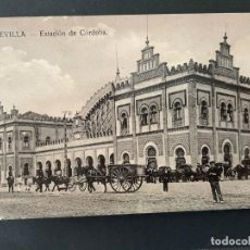 Postales: ANTIGUA TARJETA POSTAL DE SEVILLA (ESTACIÓN DE CORDOBA). Lote 273101443