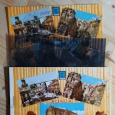 Postales: RONDA Nº 5910 VARIAS VISTAS / PRUEBAS DE COLOR Y NEGATIVOS / EDICIONES PERGAMINO. Lote 275604438
