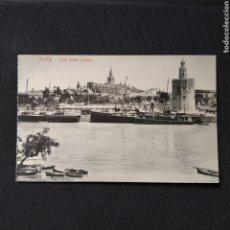 Postales: SEVILLA - VISTA DESDE TRIANA. COLECCIÓN M.CAPARTEGUY. CERCA DE 1900.. Lote 276556543