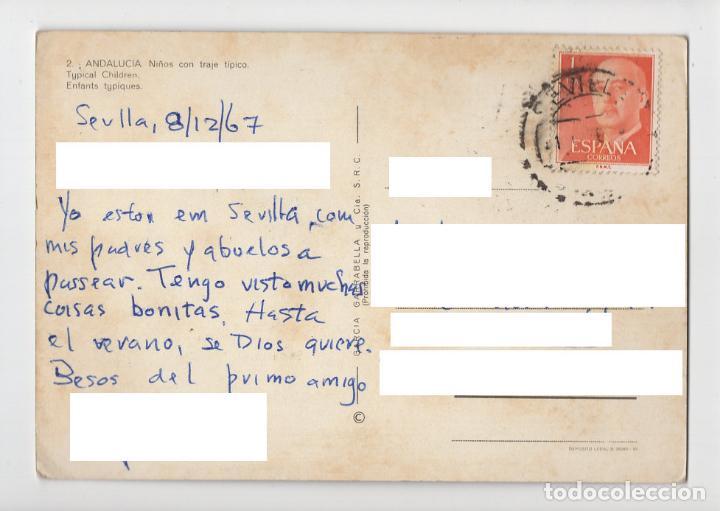 Postales: Nº 2 ANDALUCIA ♦ García Garrabella, 1964 (circulada) - Foto 2 - 277043873