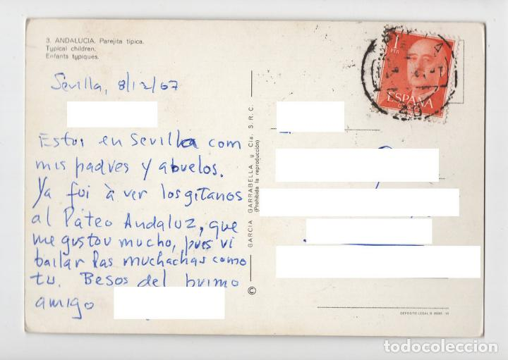 Postales: Nº 3 ANDALUCIA ♦ García Garrabella, 1964 (circulada) - Foto 2 - 277044013