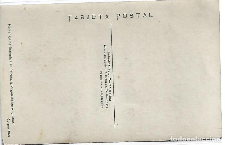 Postales: (PS-66150)POSTAL FOTOGRAFICA DE GRANADA-HOMENAJE A SU PATRONA LA VIRGEN DE LAS ANGUSTIAS CORPUS 1919 - Foto 2 - 277165693