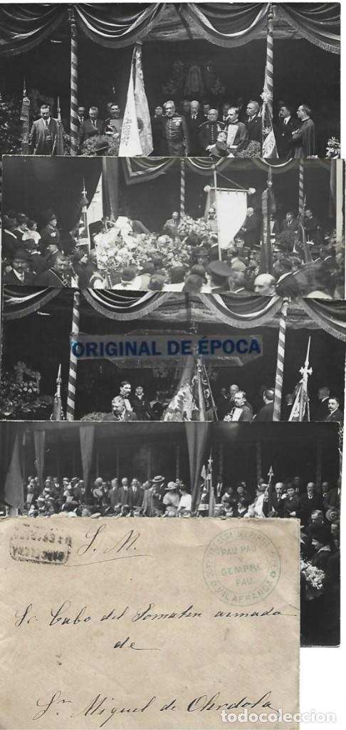 (PS-66156)LOTE DE 4 POSTALES FOTOGRAFICAS DE BARCELONA-SOMATEN ARMADO VILAFRANCA DEL PENEDES (Postales - España - Andalucía Antigua (hasta 1939))