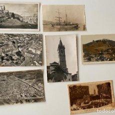 Postales: MALAGA , CAMPILLOS , BARCO , LOTE 7 POSTALES , 1936 , 1960 , 1935 , 1962 ,. Lote 277616993