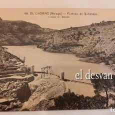 Postales: EL CHORRO (MÁLAGA). PANTANO DE GAITANEJO. Lote 277617008