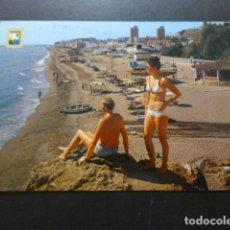 Postales: TORREMOLINOS MALAGA PLAYA DE LA CARIHUELA. Lote 277655898