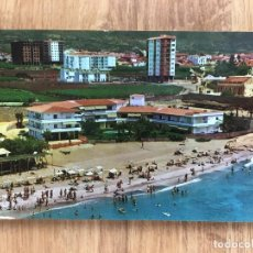 Postales: POSTAL DE NERJA ( MÁLAGA ) VISTA AÉREA PLAYA DE LA TORRECILLA. Lote 277734973