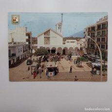 Postales: POSTAL FUENGIROLA. LOS BOLICHES. IGLESIA Y PLAZA PRINCIPAL (MÁLAGA) CIRCULADA Nº 41 DOMINGUEZ. Lote 278761143