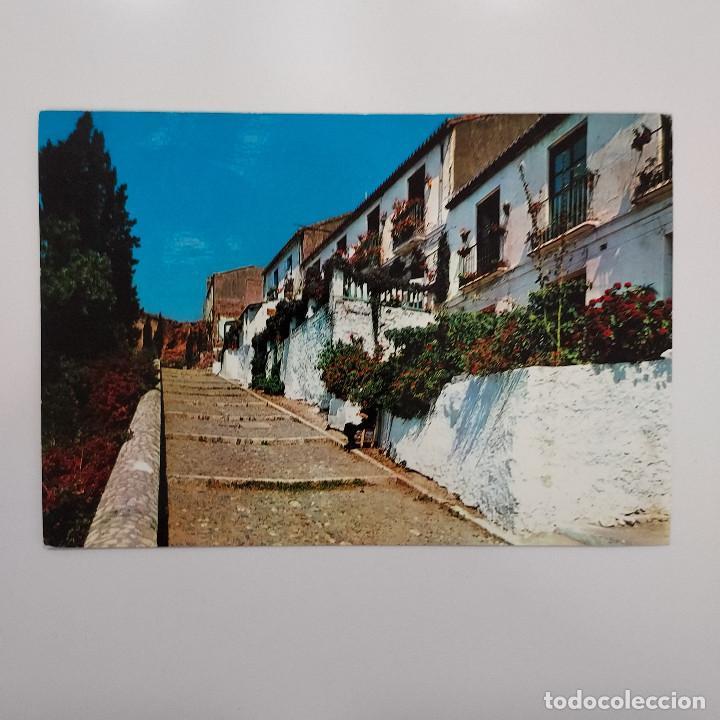 POSTAL MÁLAGA. SUBIDA A GIBRALFARO (MÁLAGA) CIRCULADA Nº 1101 BEASCOA (Postales - España - Andalucia Moderna (desde 1.940))
