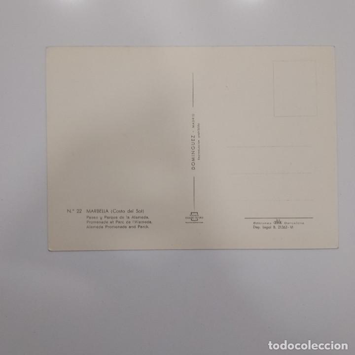 Postales: POSTAL MARBELLA. PASEO Y PARQUE DE LA ALAMEDA (MÁLAGA) SIN ESCRIBIR. Nº 22 DOMINGUEZ - Foto 2 - 278943073