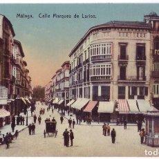 Postales: MÁLAGA: CALLE MARQUÉS DE LARIOS. ED. DOMINGO DEL RÍO. NO CIRCULADA (AÑOS 10). Lote 279385238