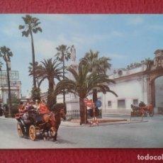 Postales: POST CARD EL PUERTO DE SANTA MARÍA CÁDIZ MONUMENTO AL CORAZÓN JESÚS COCHES DE CABALLOS, TERRY ETC.... Lote 286697438