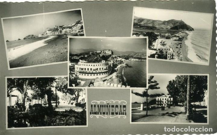 ALMUÑECAR (GRANADA).- POSTAL MOSAICO 5 VISTAS.. EDICIONES GRÁFICAS CONTRERAS. (Postales - España - Andalucia Moderna (desde 1.940))