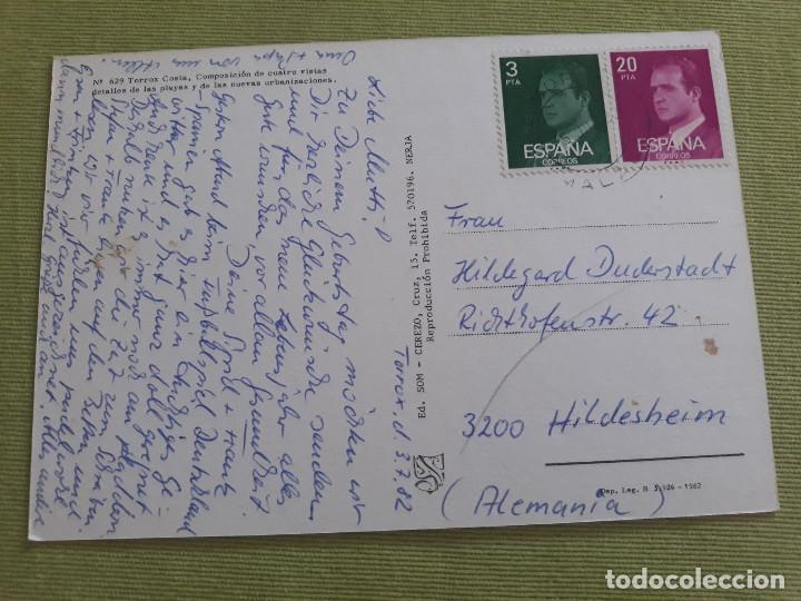 Postales: TORROX-COSTA (Málaga) COMPOSICIÓN DE 4 VISTAS DETALLES DE PLAYAS Y DE LA URBANIZACIONES - Foto 2 - 287912378
