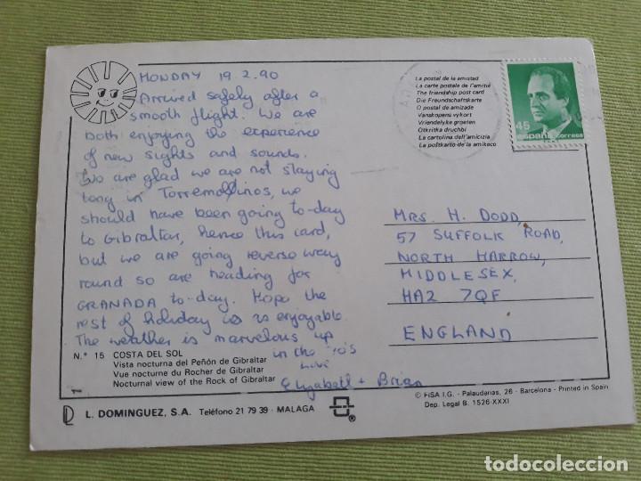 Postales: COSTA DE SOL - VISTA NOCTURNA DEL PEÑÓN DE GIBRALTAR - Foto 2 - 287912463