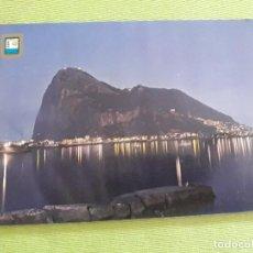 Postales: COSTA DE SOL - VISTA NOCTURNA DEL PEÑÓN DE GIBRALTAR. Lote 287912463