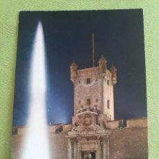 Postales: CADIZ - PUERTA DE TIERRA - FUENTE MONUMENTAL - ASPECTO NOCTURNO - NUEVA. Lote 287913563