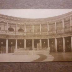 Postales: GRANADA ALHAMBRA INTERIOR PALACIO DE CARLOS V. Lote 288168433
