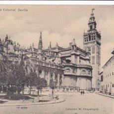 Postales: SEVILLA, VISTA DE LA CATEDRAL DE SEVILLA. ED. M. CHAPARTEGUY. Nº V 40300. REVERSO SIN DIVIDIR. Lote 288394858