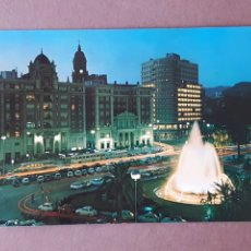 Postales: POSTAL 2132 ARRIBAS. PLAZA DE QUEIPO DE LLANO. NOCTURNA. MÁLAGA. 1968. SIN CIRCULAR.. Lote 288703153