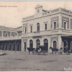 Postales: ESTACION DE CÁDIZ - SEVILLA Nº 21 - UNIÓN POSTAL UNIVERSAL. Lote 288726753