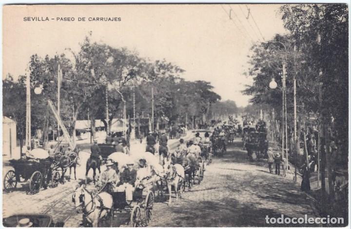 PASEO DE CARRUAJES - SEVILLA Nº 2 - UNIÓN POSTAL UNIVERSAL (Postales - España - Andalucía Antigua (hasta 1939))