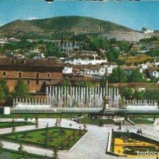 Postales: [POSTAL] JARDINES Y FUENTE MONUMENTAL DE TRIUNFO. GRANADA (CIRCULADA Y MUY FATIGADA). Lote 288988188