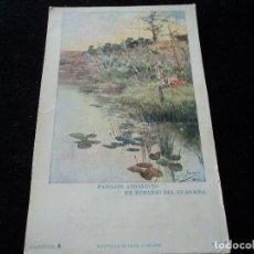 Postales: PAISAJES ANDALUCES UN REMANSO DEL GUADAIRA ED. BLANCO Y NEGRO COL. A Nº 5. Lote 289548193