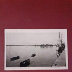 Postales: POSTAL. HUELVA, MUELLE DEFINITIVO. FOTO ROISIN. 1955. ED. VIUDA DE ARIAS. ESCRITA SIN CIRCULAR.. Lote 289554443