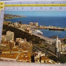 Postales: POSTAL DE MÁLAGA. AÑO 1967. VISTA AEREA PUERTO BARCOS SILO EQUITATIVA. 212 ESCUDO ORO. 1049. Lote 289891448