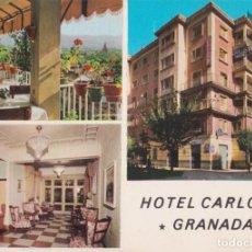 Cartoline: GRANADA, HOTEL CARLOS V – DORSO PUBLICITARIO. Lote 292235173