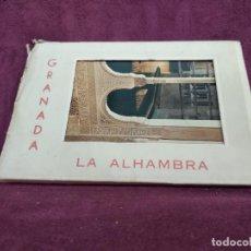 Postales: ANTIGUO LIBRITO CON 9 POSTALES EN ACORDEÓN DE LA ALHAMBRA, GRANADA, G. GARRABELLA. Lote 293368033