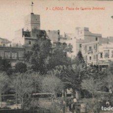 Postales: POSTAL CÁDIZ PLAZA DE GERRA JIMENEZ THOMAS 1918 SIN CIRCULAR. Lote 294074183