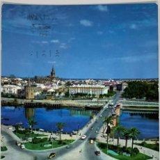 Postales: SEVILLA, PUENTE SAN TELMO Y PLAZA DE CUBA. SUBIRATS CASANOVA. CIRCULADA 1973. Lote 294104973