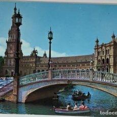 Postales: SEVILLA, PLAZA DE ESPAÑA. RO FOTO. CIRCULADA 1972. Lote 294105753