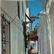 Postales: MÁLAGA, MARBELLA, CALLE TÍPICS. POSTALES COSTA DEL SOL. CIRCULADA 1973. Lote 294461593