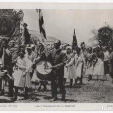 Postales: POSTAL- ANDALUCIA TIPICA- UNA HERMANDAD EN LA ROMERIA. Lote 295044828