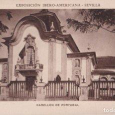 Postales: SEVILLA EXPOSICIÓN IBERO-AMERICANA, PABELLÓN DE PORTUGAL - HUECOGRABADO MUMBRÚ - S/C. Lote 295298013