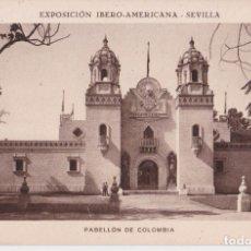Postales: SEVILLA EXPOSICIÓN IBERO-AMERICANA, PABELLÓN DE COLOMBIA - HUECOGRABADO MUMBRÚ - S/C. Lote 295298213