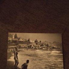 Postales: PLAYA DEL SALÓN DE NERJA. 1961. SIN CIRCULAR. RARA. CAR. Lote 295528913