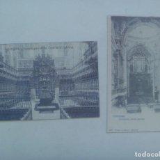 Postales: LOTE DE 2 POSTALES FACSIMIL DE CORDOBA ANTIGUA : INTERIORES DE LA CATEDRAL. Lote 295539163