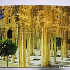 Postales: GRANADA. ALHAMBRA SERIE 45 N. 212 COLUMNAS PATIO DE LOS LEONES. ED. ZERKOWITZ NUEVA. Lote 295993613