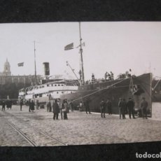 Postales: MALAGA-PUERTO-BARCO REINA VICTORIA-FOTOGRAFIA ANTIGUA-(85.356). Lote 296893823