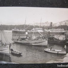 Postales: MALAGA-PUERTO-BARCOS-FOTOGRAFIA ANTIGUA-VER REVERSO-(85.358). Lote 296893968