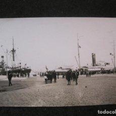Postales: MALAGA-PUERTO-BARCOS-FOTOGRAFIA ANTIGUA-VER REVERSO-(85.359). Lote 296893998