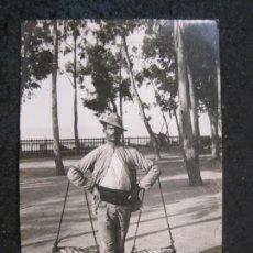 Postales: MALAGA-VENDEDOR DE PESCADO-FOTOGRAFIA ANTIGUA-VER REVERSO-(85.362). Lote 296894223