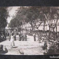Postales: MALAGA-PROCESION DE SEMANA SANTA-FOTOGRAFIA ANTIGUA-VER REVERSO-(85.364). Lote 296894383
