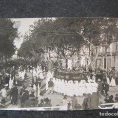 Postales: MALAGA-PROCESION DE SEMANA SANTA-FOTOGRAFIA ANTIGUA-VER REVERSO-(85.365). Lote 296894408