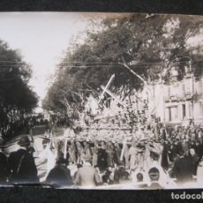 Postales: MALAGA-PROCESION DE SEMANA SANTA-FOTOGRAFIA ANTIGUA-VER REVERSO-(85.366). Lote 296894443